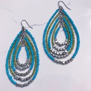 Anthropologie - Layered Beaded Drop Earrings